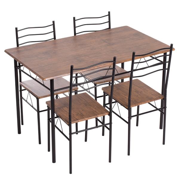 Маса с 4 стола 20015 - палисандър