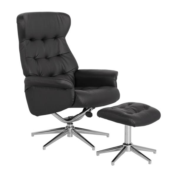 Кресло с табуретка - Davina еко кожа