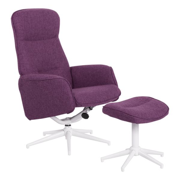 Кресло с табуретка - Una виолетов