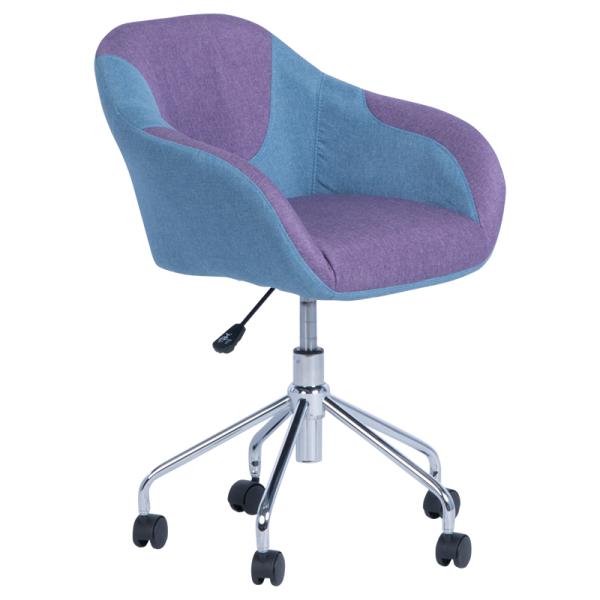 Офис кресло 2013 - лилаво-син