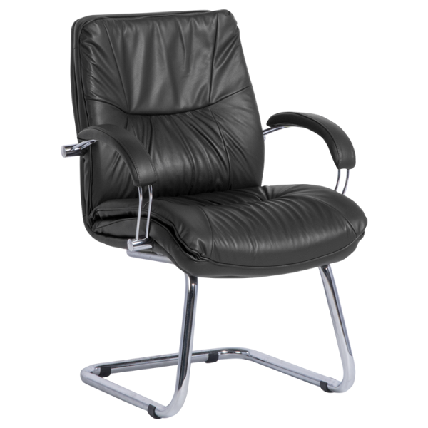 Посетителски стол PARMA - черен LUX