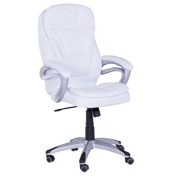 Офис стол-6156 бял