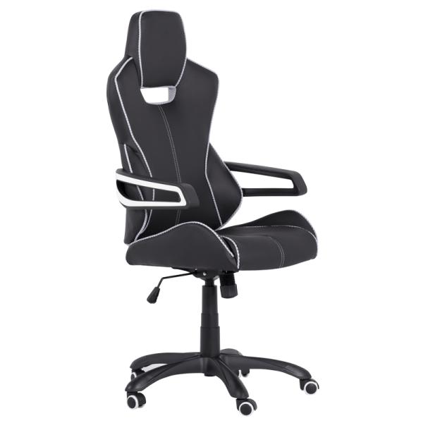 Офис стол 7513 - черен/бял
