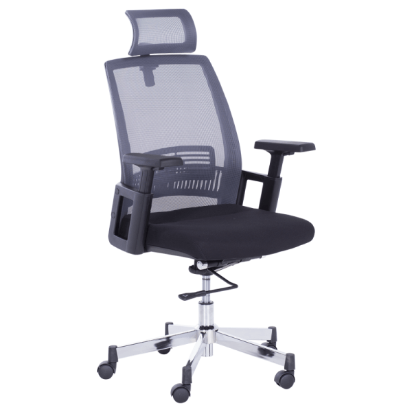 Офис стол-7514 графит/черен