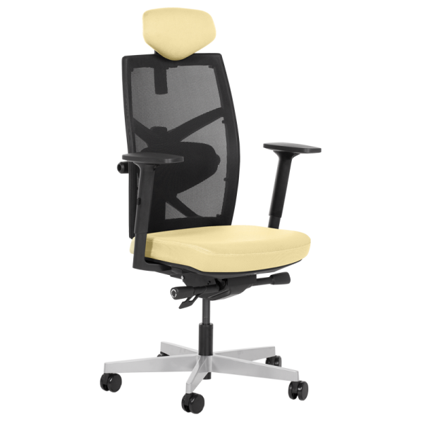 Офис стол-Fredo светло жълт