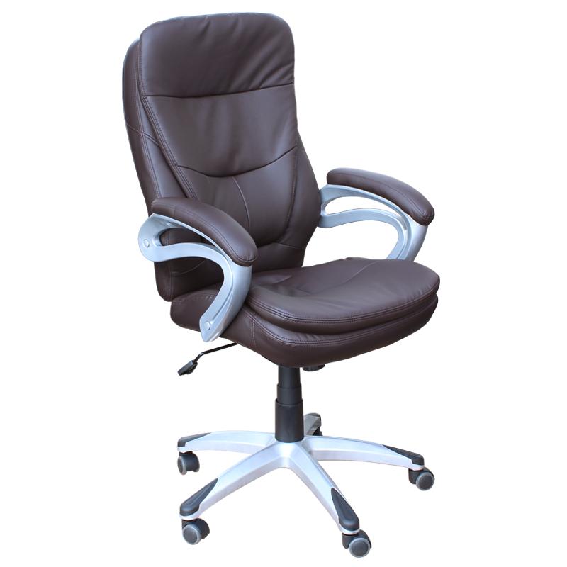 Офис стол-6056 тъмно кафяв