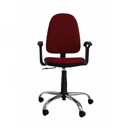 Работен стол - Prestige Steel-бордо