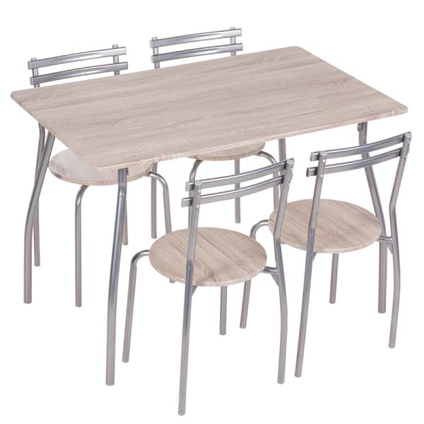 Маса с 4 стола 20014 - дъб сонома 2