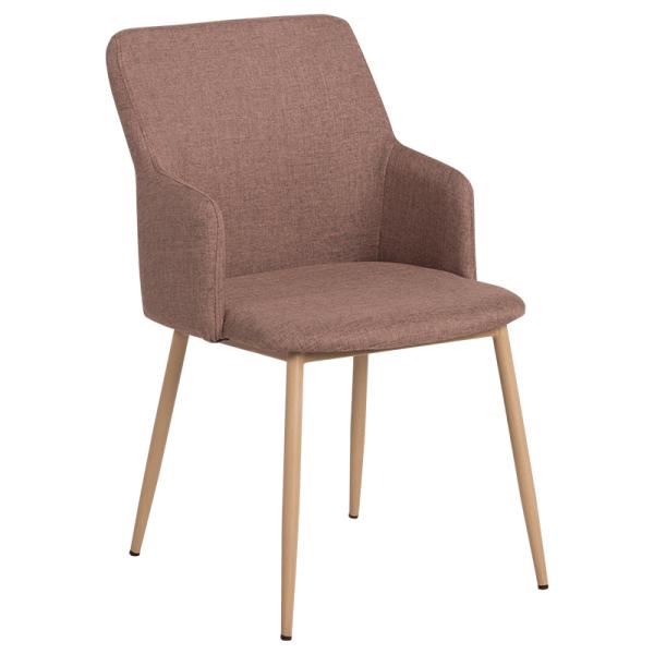 Трапезен стол-512 кафяв
