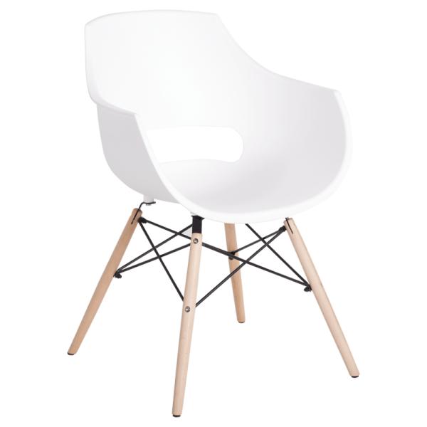 Трапезен стол-9965 бял