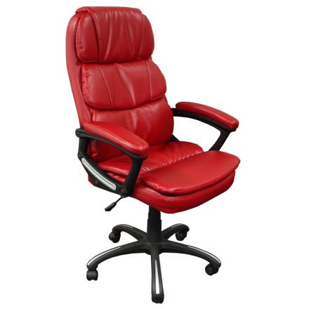 Офис стол-6034 искр. червен