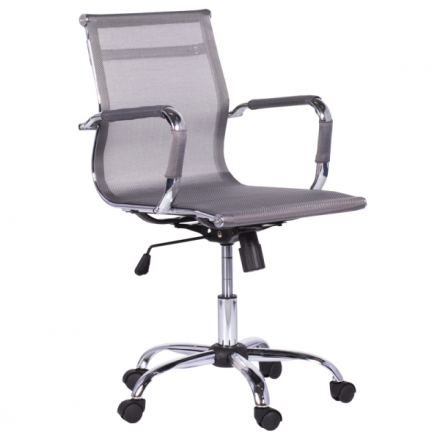 Офис стол-8801 сребрист