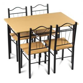 Маса с 4 стола-бук