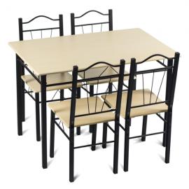 Маса с 4 стола-клен