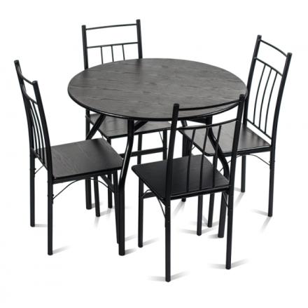 Маса с 4 стола-венге