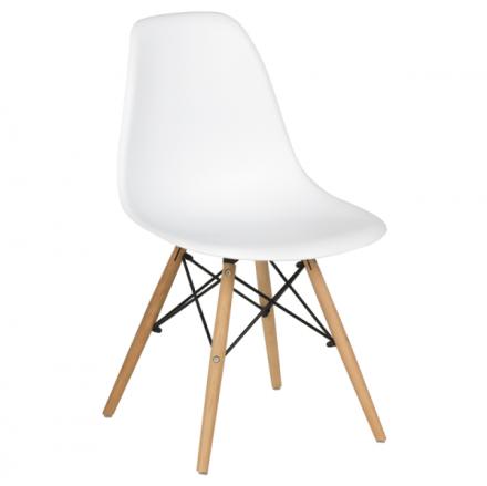 Трапезен стол-9956D бял