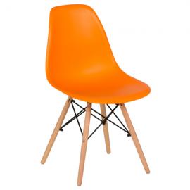Трапезен стол-9957 оранжев