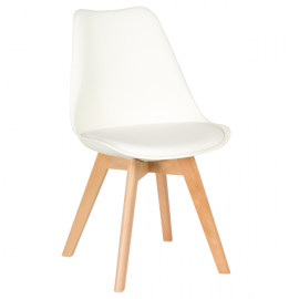 Трапезен стол-9958 бял