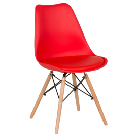 Трапезен стол-9960 червен