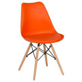 Трапезен стол-9960 оранжев