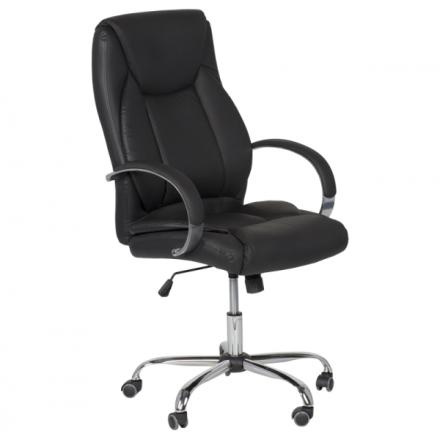 Офис стол-6501 черен LUX
