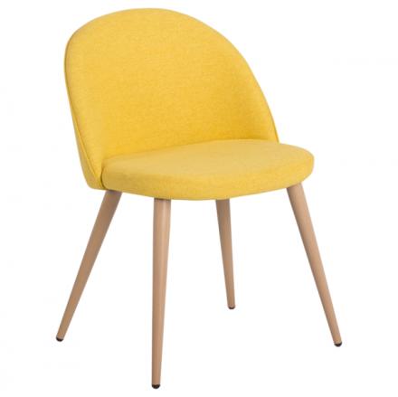 Трапезен стол-514 ярко жълт