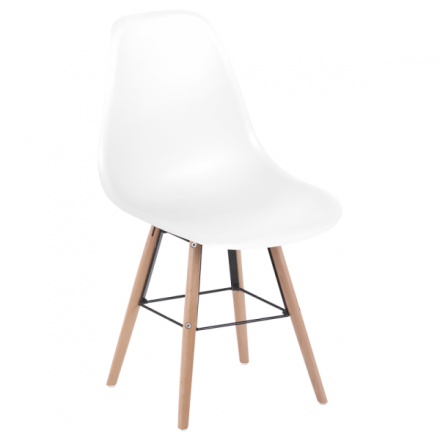 Трапезен стол-9957 S бял