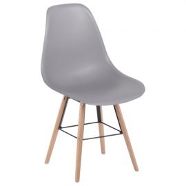 Трапезен стол-9957 S сив