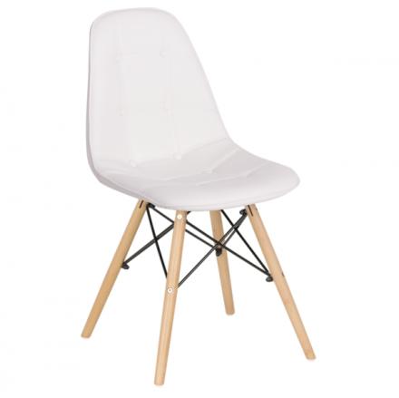 Трапезен стол-9962 бял