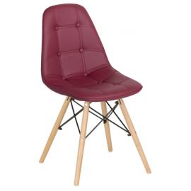 Трапезен стол-9962 бордо