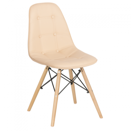 Трапезен стол-9962 крем