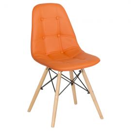 Трапезен стол-9962 оранжев