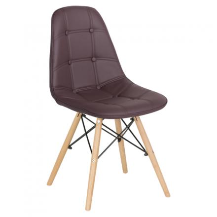Трапезен стол-9962 тъмно кафяв