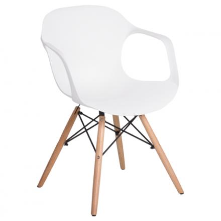 Трапезен стол-9964 бял