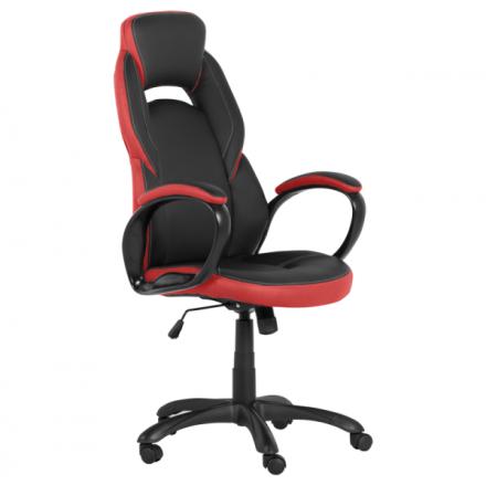Офис стол 7511-черен/червен