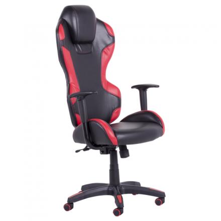 Офис стол 7512 черен/червен